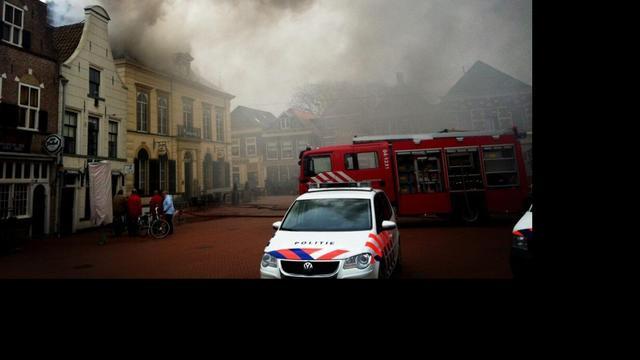 Grote brand in café Steenwijk