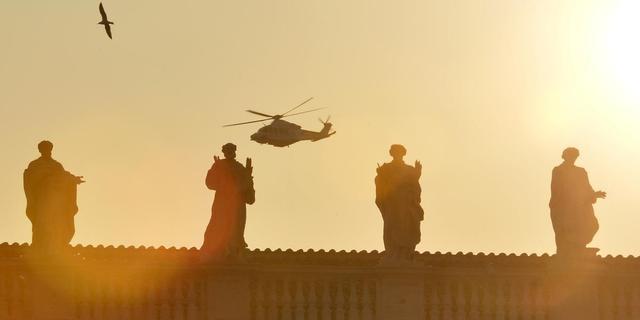 Paus Benedictus vertrokken uit Vaticaan