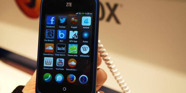 Firefox-telefoon ZTE Open verkocht via Ebay