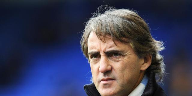 Mancini legt zich neer bij titel Manchester United