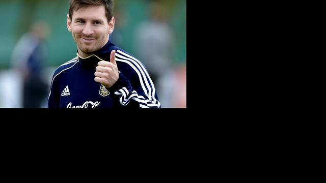 Messi ondanks blessure in Argentijnse selectie