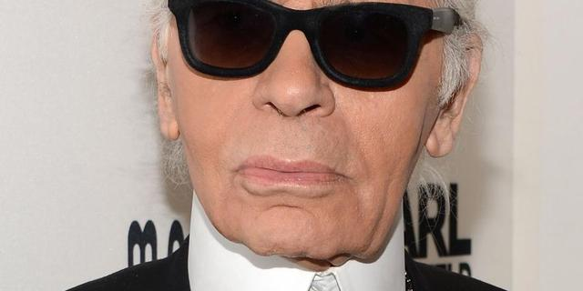 Schetsen Karl Lagerfeld geveild