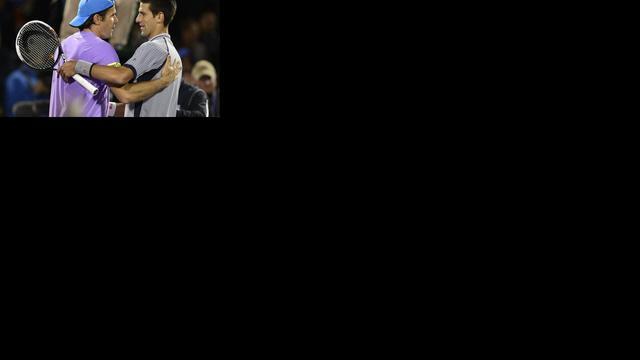 Haas stunt tegen Djokovic