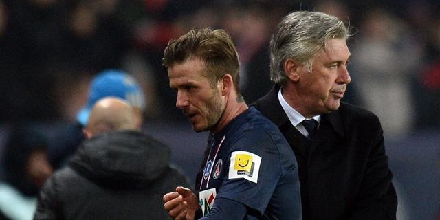 Ancelotti hoopt op langer verblijf Beckham