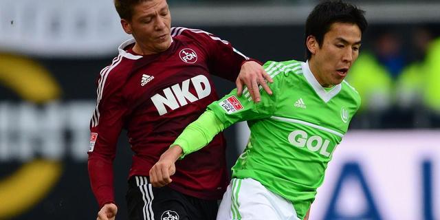 Wolfsburg geeft voorsprong weg tegen Nürnberg