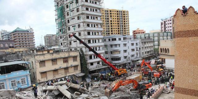 Dodental ingestort gebouw Tanzania naar 29