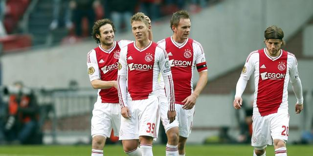 Ajax profiteert van puntenverlies PSV en Feyenoord
