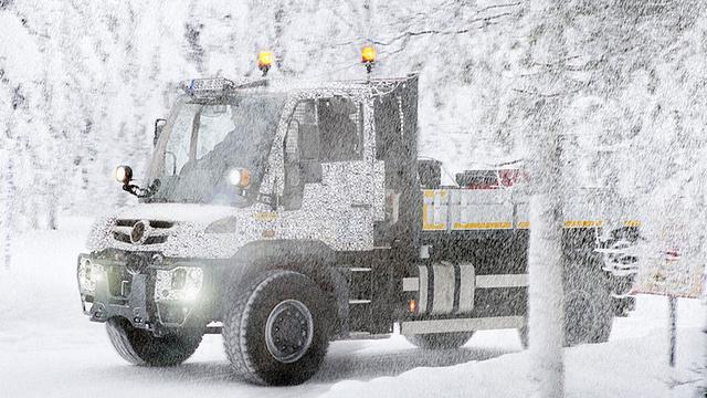 Unimog 2014 in de sneeuw