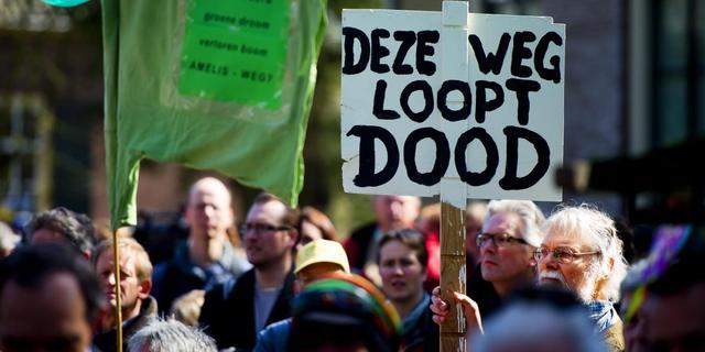Protest tegen boomkap Amelisweerd