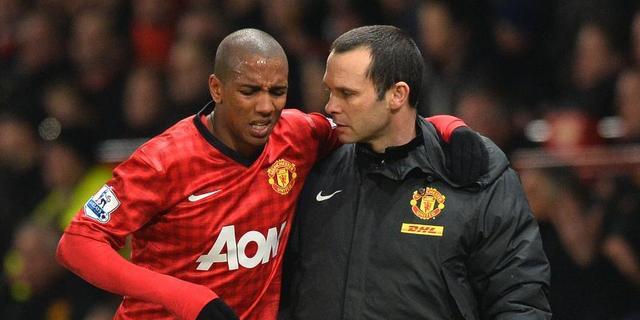 Manchester United moet Young twee weken missen