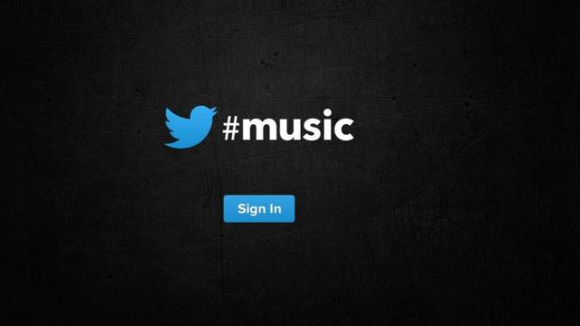 Loginpagina muziekdienst Twitter verschijnt online