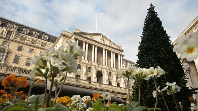 Britse centrale bank handhaaft beleid