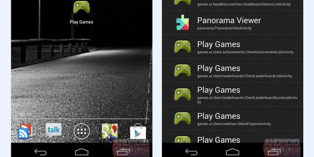 Gamecentrum voor Android op afbeeldingen te zien
