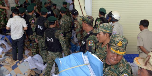 Doden na instorting schoenenfabriek Cambodja