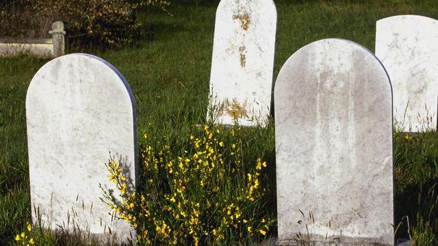 Twee vrouwen zonnebaden op kerkhof in Australië