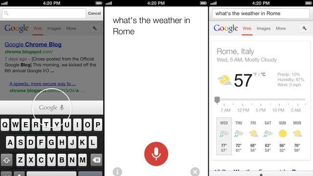 Google brengt spraakgestuurd zoeken naar Chrome op iOS