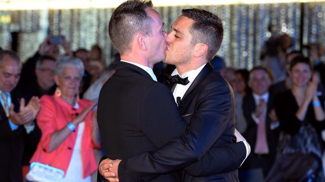 Eerste homohuwelijk in Frankrijk voltrokken
