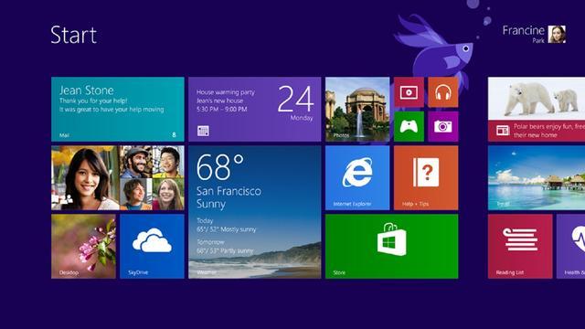 Windows 8.1 brengt traditionele startknop niet terug