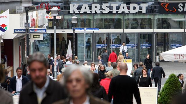 Minder ontslagen bij warenhuisketen Karstadt