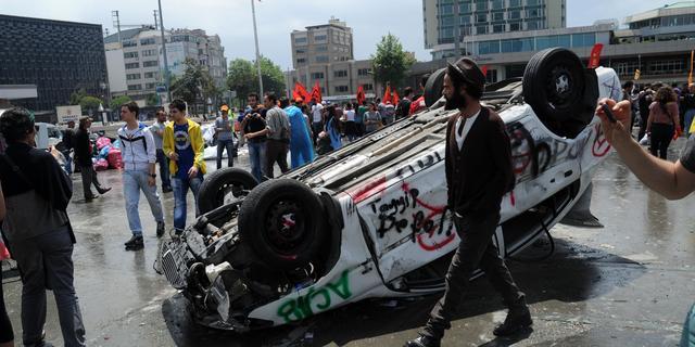 Taksimplein Istanbul loopt weer vol