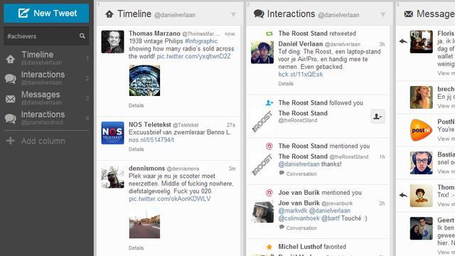 Populaire Twitter-client Tweetdeck krijgt grote update