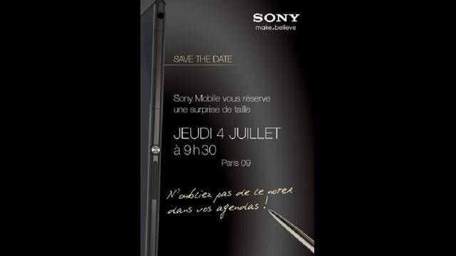 Sony toont 6,44 inch Xperia Z Ultra in uitnodiging