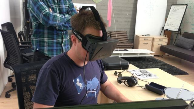 Virtual reality-bril Oculus Rift helpt bij lui oog