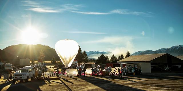 'Google gaat internetballonnen grootschalig testen boven VS'