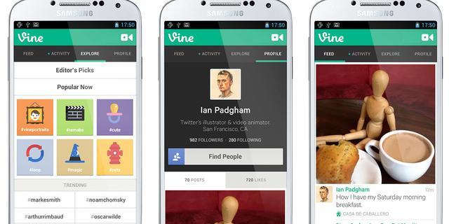 Nieuwe functionaliteit Vine getoond in video's