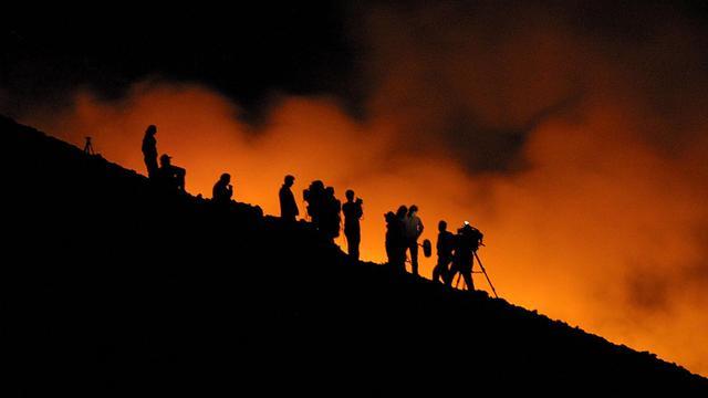 Hinder vliegverkeer door uitbarsting Etna