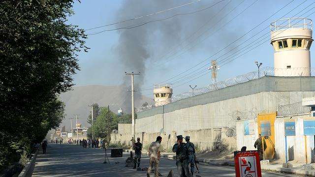 Aanval Taliban op presidentieel paleis Kabul