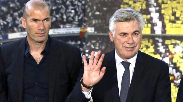 Zidane rechterhand Ancelotti bij Real Madrid