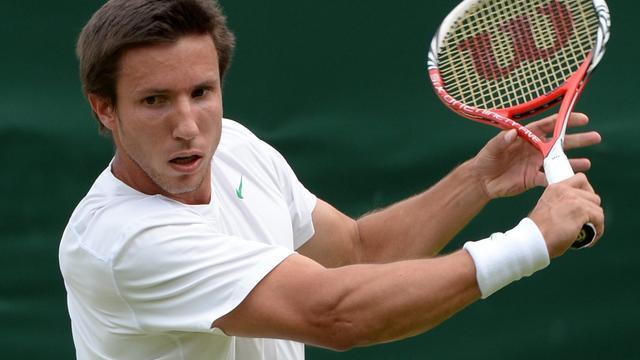 Sijsling pas in namiddag in actie op Wimbledon
