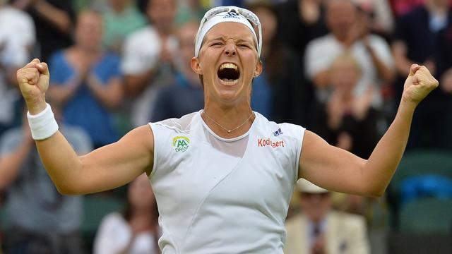 Primeur Flipkens op Wimbledon met plaats in halve finale