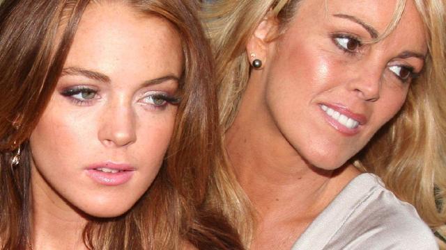 'Contactverbod tussen Dina en Lindsay Lohan'