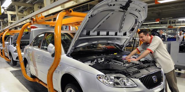 Industriële productie eurozone daalt