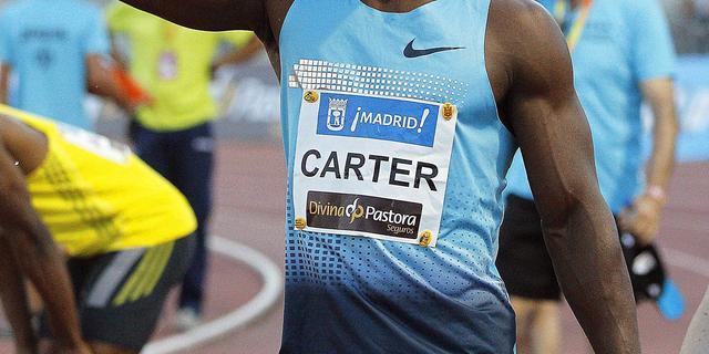 Sprinter Carter wint 100 meter in Madrid