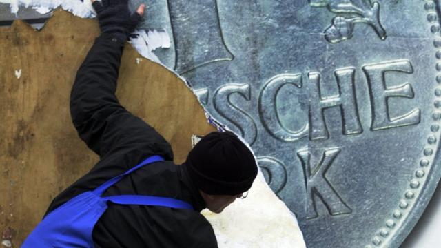 Nog 12,9 miljard Duitse mark niet ingewisseld