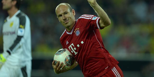 Twee treffers Robben niet genoeg voor Bayern