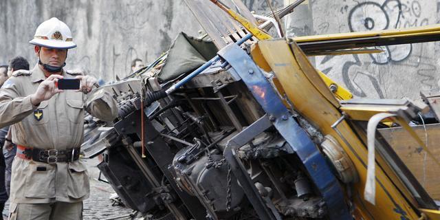 Doden door ontsporen toeristentram in Rio