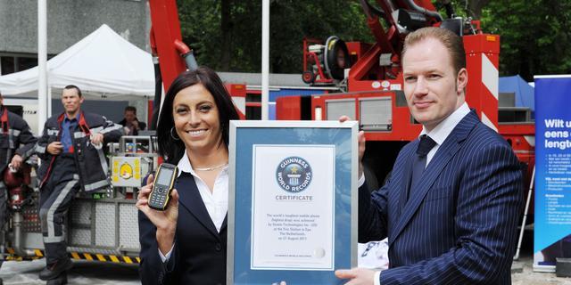 Sonim vestigt Guinness World Record