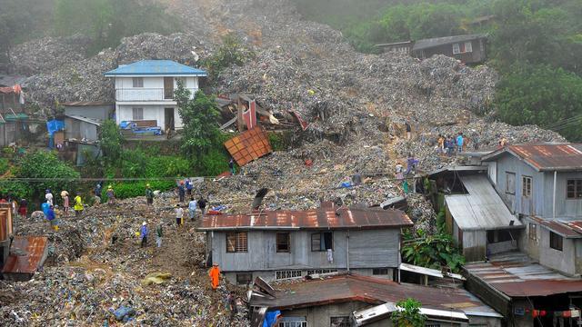 Doden door tyfoon op Filipijnen