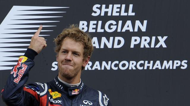 Vettel wint Belgische Grand Prix