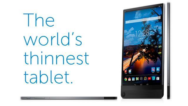 Dell toont extreem dunne tablet met 3d-camera
