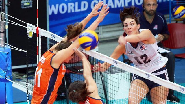 Volleybalsters verliezen groepsduel van VS op WK
