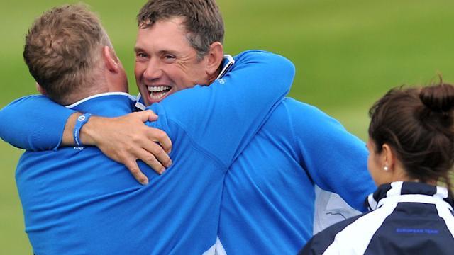 Europese golfers na eerste dag stevig aan leiding in Ryder Cup