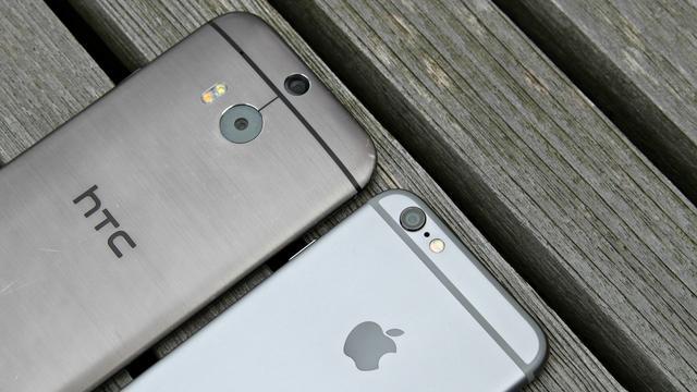 De HTC One M8 en iPhone 6
