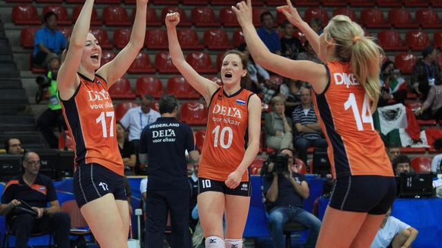 Volleybalsters winnen laatste wedstrijd in eerste groepsfase WK