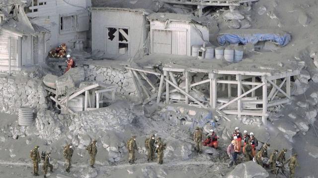 'Meer dan dertig doden in Japan door vulkaan'