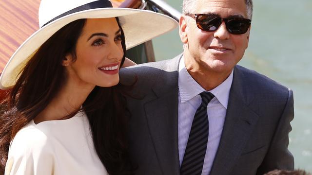 'Opbrengst trouwfoto's George Clooney naar goed doel'
